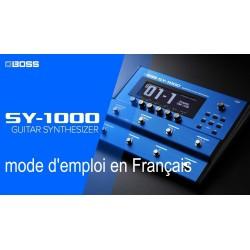 Mode d'emploi BOSS SY-1000