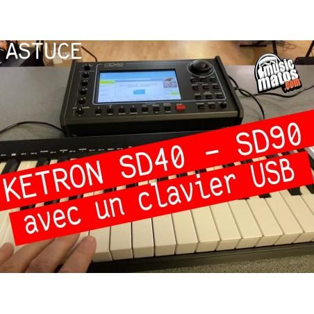 Vidéo Clavier USB avec KETRON SD40 ou SD90