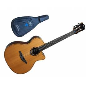 LAG TNHV15ACE , guitare nylon, manche fin, livrée avec son bag de transport