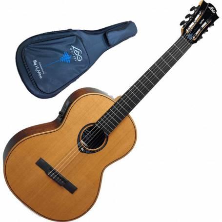 Guitare classique LAG  CHV15E Hyvibe, livrée avec sa housse de transport