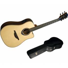 Guitare LAG THV30DCE TRAMONTANE  HYVIBE, livré avec son étui flightcase