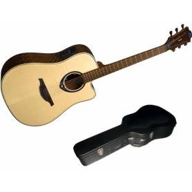 Guitare LAG THV20DCE TRAMONTANE  HYVIBE, livré avec son étui flightcase
