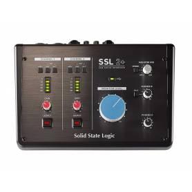 Interface audio SSL2+ équipée de préamplis SSL et entrée/sortie MIDI
