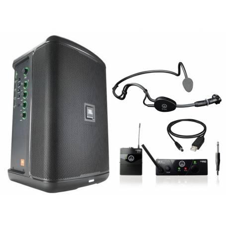 système sonorisation portable sur batterie JBL EON ONE COMPACT + micro fitness HF