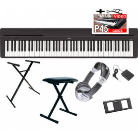 Yamaha P45 piano numérique + accessoires et formation vidéo