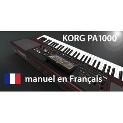 KORG PA1000 manuel en Français