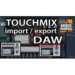 vidéo Touchmix et DAW
