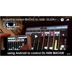vidéo Mackie DL1608 ANDROID