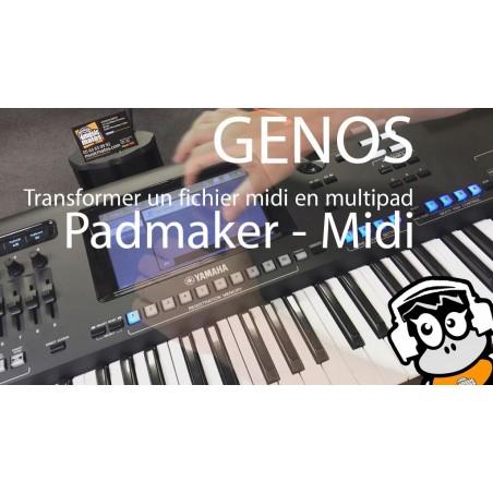 vidéo GENOS fichiers midi en multipads