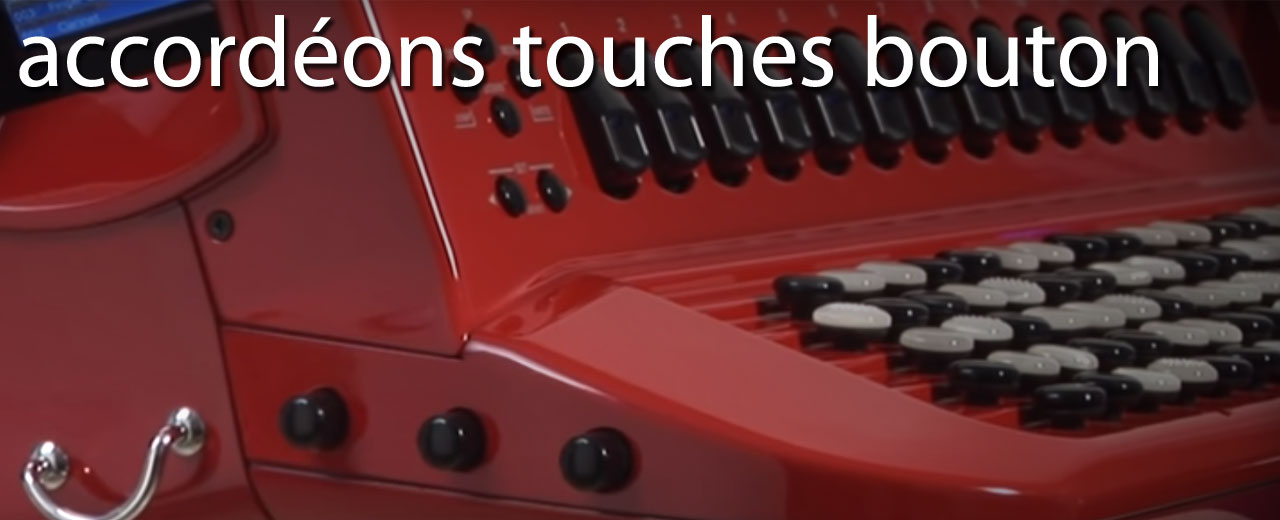 Accordéons touches boutons
