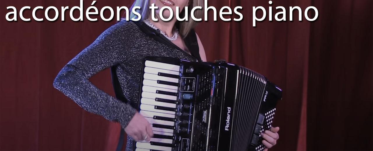 Accordéons numériques touches piano