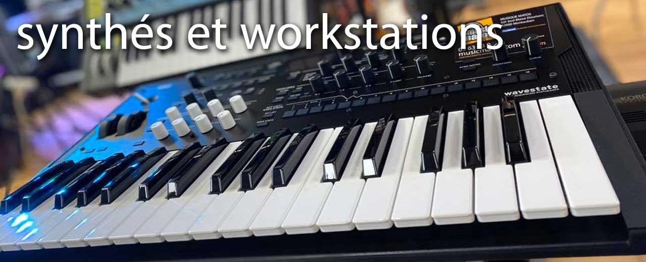 workstations et synthés