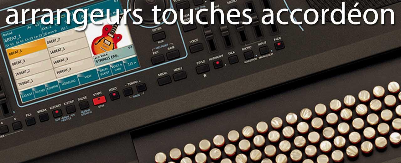 Arrageurs claviers accordéon boutons