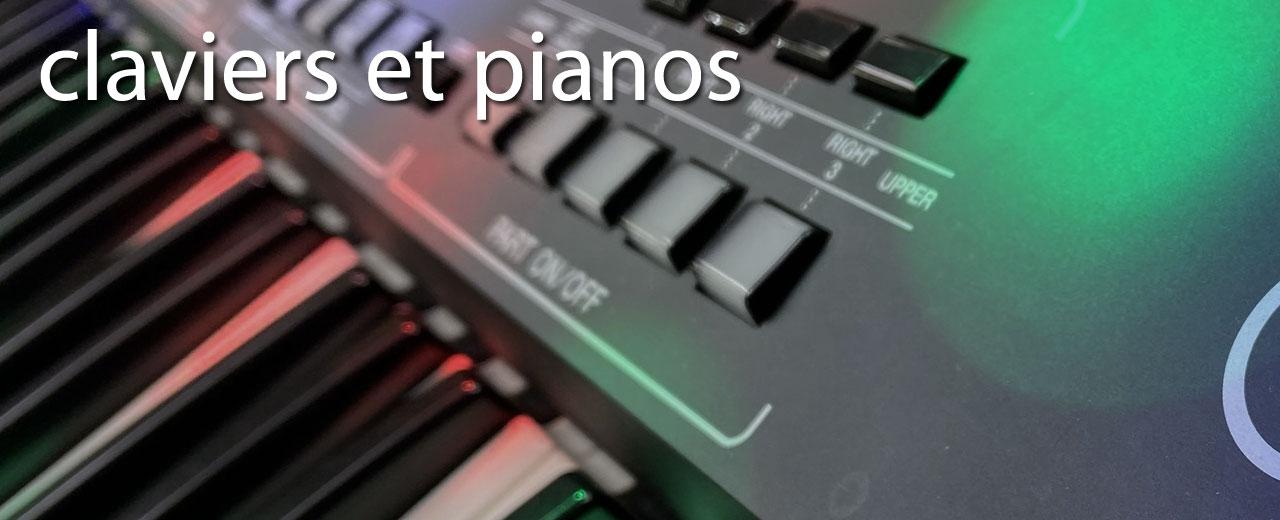 claviers, synthés et pianos numériques