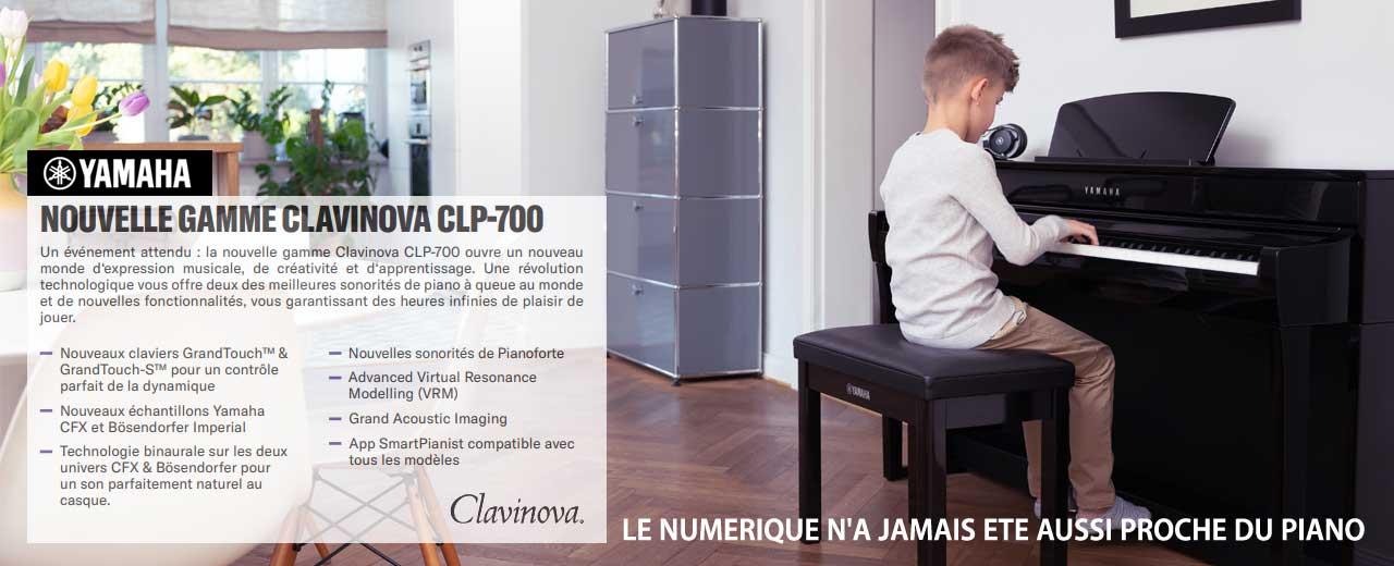 Nouvelle gamme de pianos numérique Yamaha CLP 700