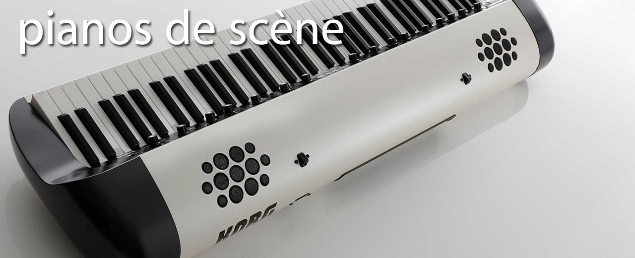 pianos et claviers de scène
