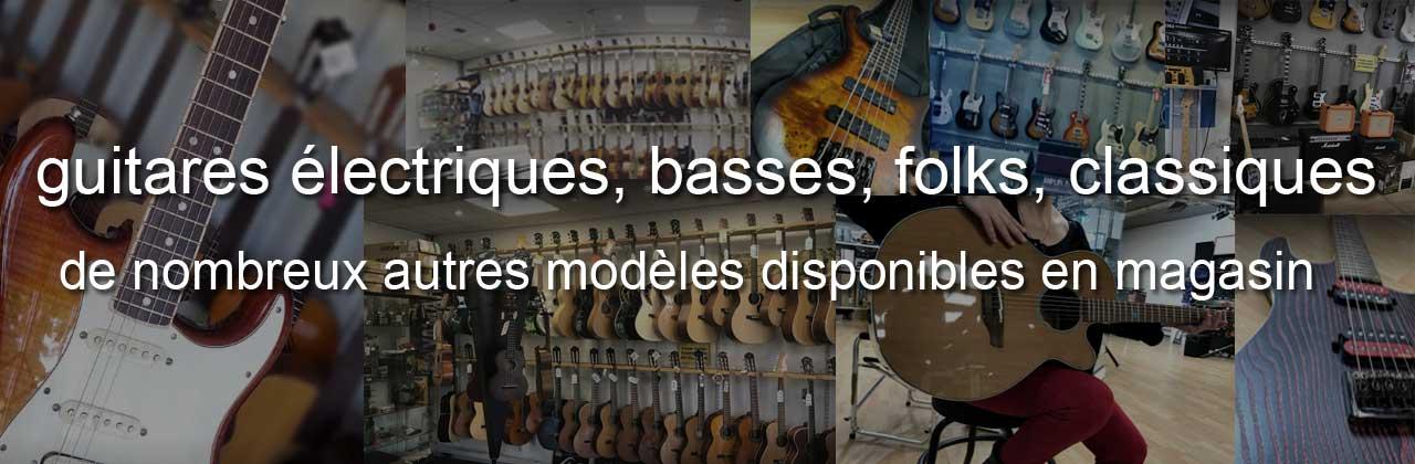 guitares, basses, folks, classiques, disponibles en magasin Musique Matos à Montauban