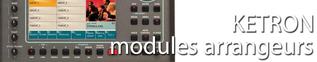 Ketron modules arrangeurs