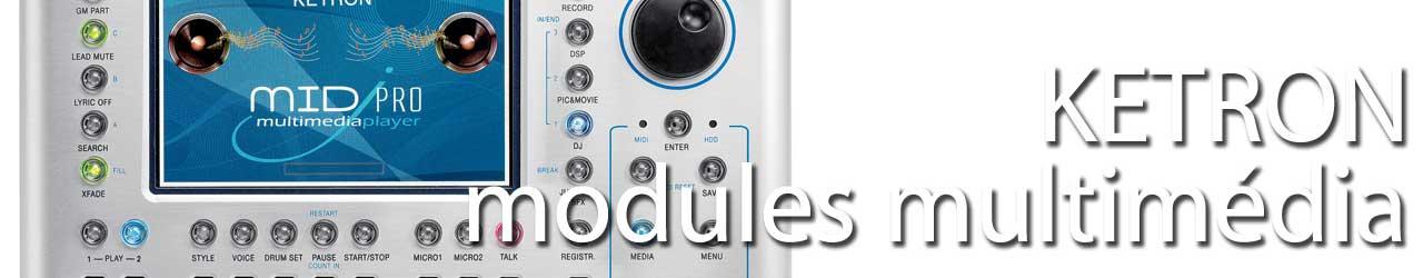 Ketron modules arrangeurs et multimédia