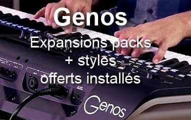 Yamaha GENOS , packs et styles préinstallés