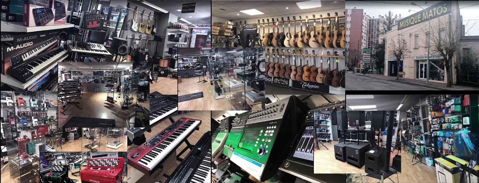 Un grand choix d'instruments de musique et sonorisation